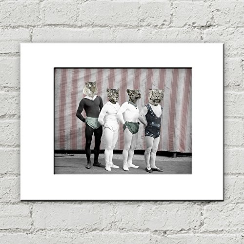 Inanimate Object Costumes (10 x 8 Circus Tigers Matted Art Print, Anthropomorphic)