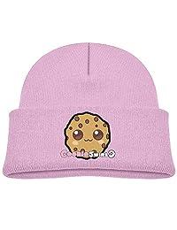 Deploeerad Kids Cute Sweet Cookie Swirl Knit Warm Beanie Hat Skull Cap