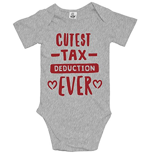 NMDJC CCQ Cutest Tax Deduction Ever Baby Boys Bodysuit Humor Onesies Soft Rompers -