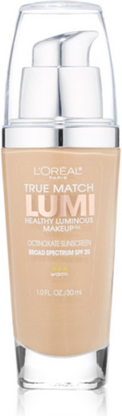 L'Oreal True Match Lumi Healthy Luminous Makeup, Sand Beige [W5], 1 oz (Pack of 2)