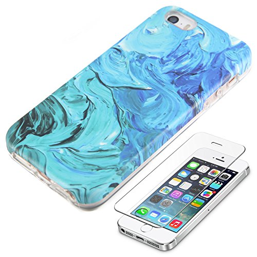 Watercolor Turquoise Protective Tempered Protector