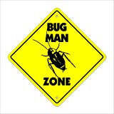 Bug Man Crossing Sign Zone Xing   Indoor/Outdoor   12' Tall pesticide roaches trap bait kill termite