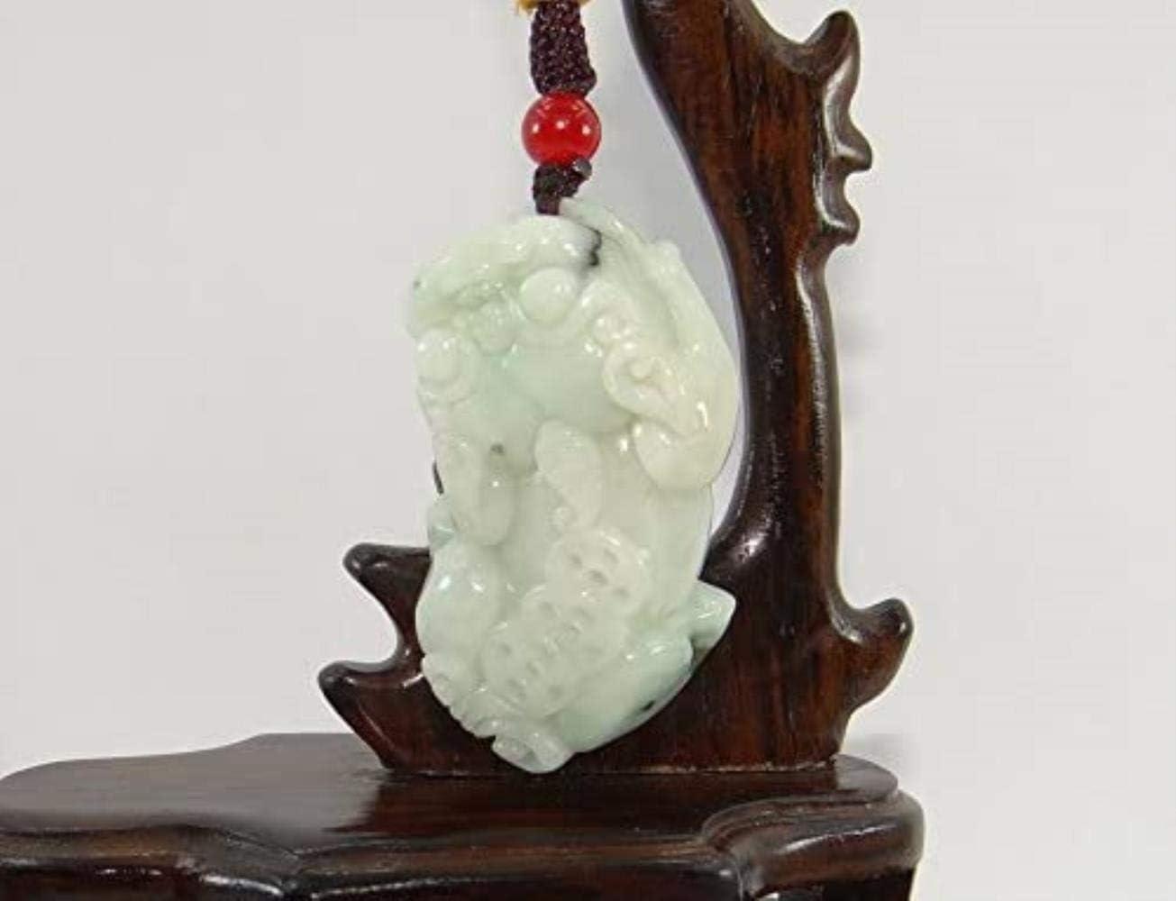 Vacally 1.8 Nature Wealth Necklace Jadeite Jade Pixiu Pair Neckalce Pendants