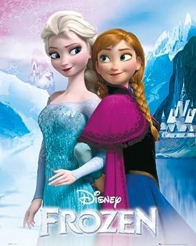 disney la reine des neiges poster elsa et anna 50 x 40 cm