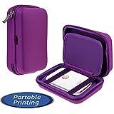 Navitech Purple Handheld Pocket / Portable / Mobile Printer Carrying Case for the HP Sprocket Photo