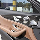 ABS Chrome Interior Door Decoration Panel Cover Trims for Mercedes benz E Class W213 E200l E300l 2016-2018 Carbon Fiber