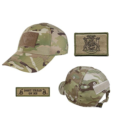 US State Operator Cap Bundle - With State & Dont Tread On Me Patches - Michigan