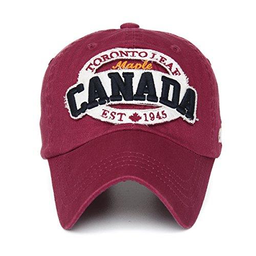 Rayna Fashion Unisex Vintage Trendy Baseball Cap Trucker Hat Golf Travel Hip Hop CANADA Flag Maple