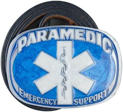 PARAMEDIC BELT BUCKLE NEW EMERGENCY SUPPORT