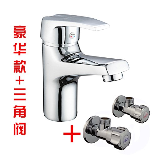 The Deluxe) + Hose + Angle Valve Gyps Faucet Basin Mixer Tap Waterfall Faucet Antique Bathroom Mixer Bar Mixer Shower Set Tap antique bathroom faucet The copper basin faucet basin mixer hot and cold lowered basin basin mixer taps wit