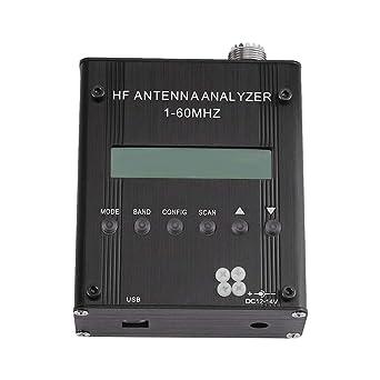 Analizador de antena, MR300 1-60M Digital portátil de onda corta Analizador de antena Medidor Tester Herramientas de prueba eléctricas para ...
