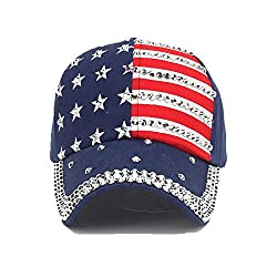 Adjustable American Flag Baseball Cap