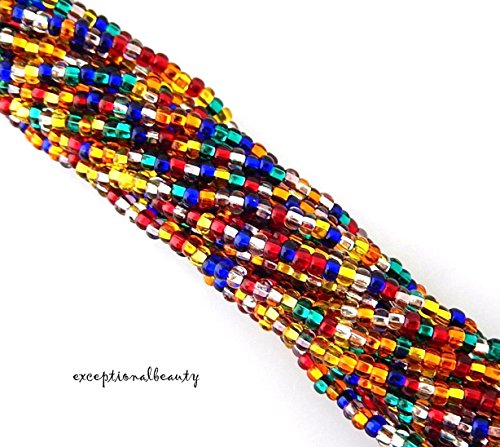 Seed 10/0 Bead Hank Czech - Preciosa 10/0 Silverlined All Mixed Up Czech Glass 2.3mm Seed Beads Bulk Hank