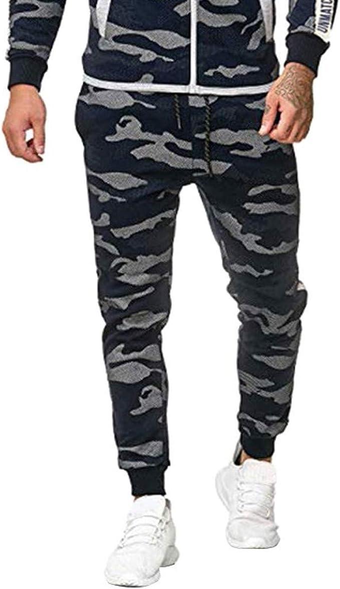 Vectry Pantalones Hombre Otoño E Invierno Casual Costura Pies ...