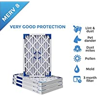 20x24x2 MERV 8 AC Furnace 2 Inch Air Filters - 4 PACK