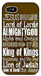 iPhone 5C Jesus ruler, Lord of the Lords, almighty God, Alpha and Omega, the Amen - black plastic case / Bible verses
