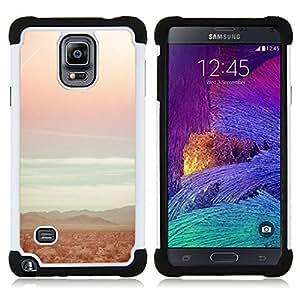 """Pulsar ( Playa del trullo Sun Summer Sunset Surf"""" ) Samsung Galaxy Note 4 IV / SM-N910 SM-N910 híbrida Heavy Duty Impact pesado deber de protección a los choques caso Carcasa de parachoques [Ne"""