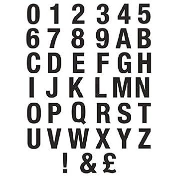 75 mm Black Helvetica Bold Condensed Style Vinyl Letters & Numbers