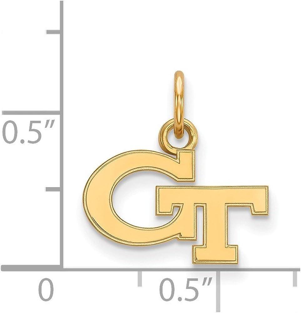 Collegiate Georgia Institute of Technology 14ky LogoArt Georgia Institute of Technology XS Pendant