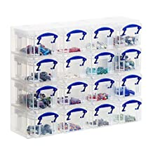 Realuse 16 x 0.14L Really Useful Box Organiser Clear