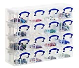 Really Useful Organiser, 16 x  0.14 Litre Storage Boxes in a Clear Plastic Organiser and Clear Boxes