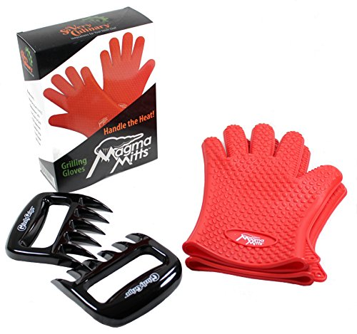 Learn More About Comfort Fit High Temperature Magma Mitts Silicone Grilling Gloves | Grizzly Gripz M...