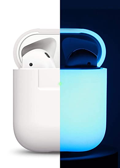 new products 8d89b 1b677 elago AirPods Silicone Case [Nightglow Blue] - [Compatible with AirPods 2 &  1 ; Front LED Visible][Support Wireless Charging][AirPods 2 Fitting ...