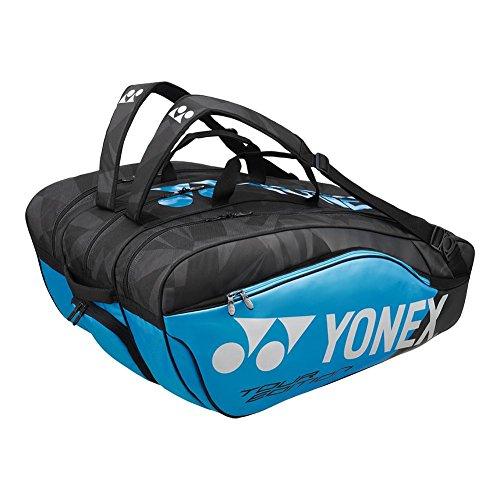 Yonex BAG98212EX Pro Racquet Bag, 12 pack (Black/Blue)