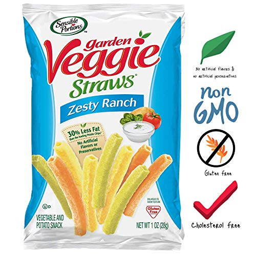Sensible Portions Garden Veggie Straws Ranch 1 oz Pack of 24