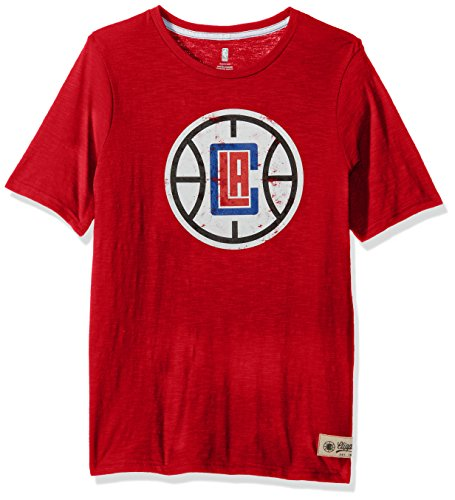 """NBA Kids & Youth Boys """"Standard"""" Short Sleeve Tee Los Angeles Clippers-Red-S(4)"""