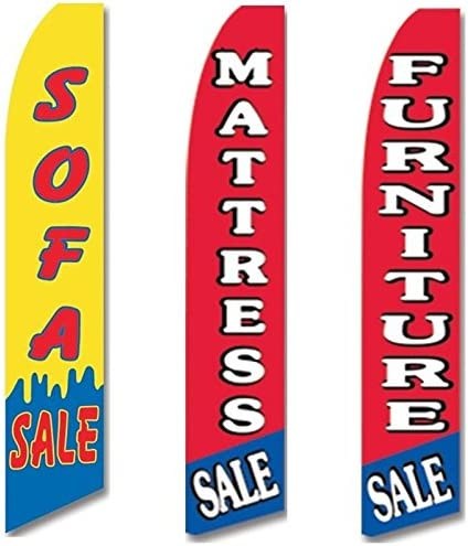Business Ad Swooper Flutter Feather Flags /& Poles 2 Pack-Venta-Super Sale