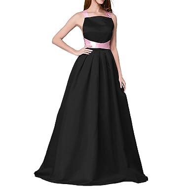 Amazon.com: Dressyu Women\'s Simple Elegant Satin Long Evening Dress ...