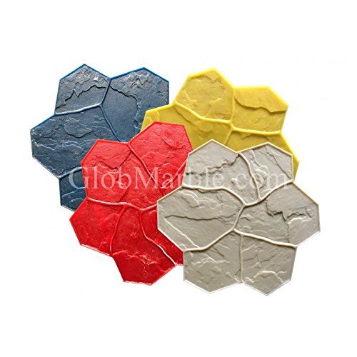 Concrete Stamp Mats Set of 4. Random Stones Stamped concrete SM (Random Stone)