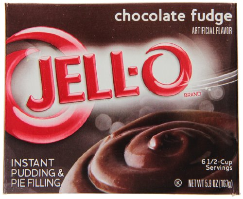 JELL-O Instant Chocolate Fudge Pudding & Pie Filling Mix (5.9 oz Boxes, Pack of 24) (Chocolate Fudge Instant Pudding And Pie Filling Mix)