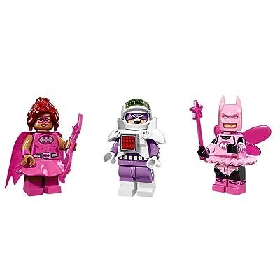 LEGO Batgirl Pink, Balarina Batman, and Calculator Minifigures Batman: Toys & Games