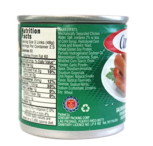 Amazon.com : Salchichas Carmela De Pollo, Chicken Vienna Sausage (20 Count) : Grocery & Gourmet Food