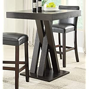 Square Bar Height Table Cappuccino