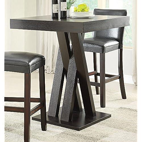 Coaster Bar Table-Cappuccino & Bar Pub Table Sets: Amazon.com
