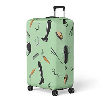 Luggage Cover Protector Suitcase Cover Protector fits 18-22 inch Luggage green, S