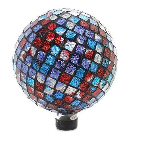 Home & Garden RED BLUE SHIMMER GAZING BALL Glass Yard Decoration Summer 65809