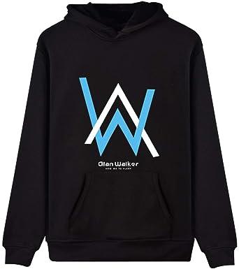 f17e5b608dcf Imilan Unisex Hoodie with Alan Walker Logo Printed Hooded Sweatshirt  Pullover(150-155cm(