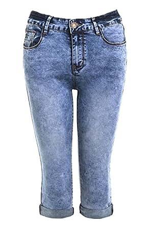 SS7 - Pantalón corto - para mujer azul azul vaquero 34