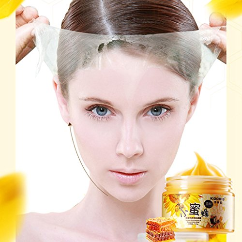 Price comparison product image Face Mask, Hometom KOOGIS Blackhead Remover Deep Cleaning Purifying Peel Off Whitening Honey Face Mask (Yellow)
