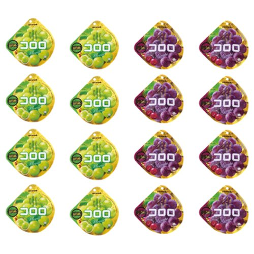 UHA Kororo | 16 Bags Set (Muscat x 8 Grape x 8) [Imported by SAlK0 JAPAN]