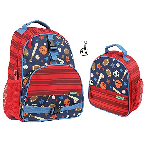 Stephen Joseph Kids Sports Backpack and Lunch Box with Charm