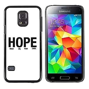 Smartphone Rígido Protección única Imagen Carcasa Funda Tapa Skin Case Para Samsung Galaxy S5 Mini, SM-G800, NOT S5 REGULAR! BIBLE Hope / STRONG