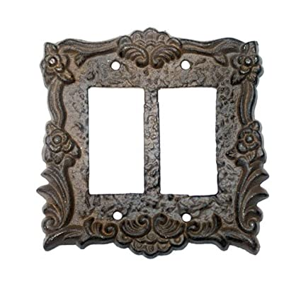 Architectural & Garden Rustic Cast Iron Ornate French Single Light Switch Outlet Plate Cover Hardware