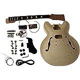 GDES230 Coban ES Mahogany Hollow body All Pre-drilled Electric Guitar DIY kit