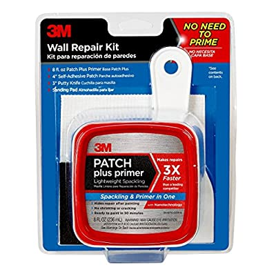 3M Patch Plus Primer Kit with 8 fl. oz Patch Plus Primer, Self-Adhesive Patch