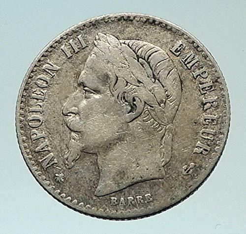 - 1867 FR 1867 FRANCE Emperor NAPOLEON III AR 50 cents Fren coin Good Uncertified